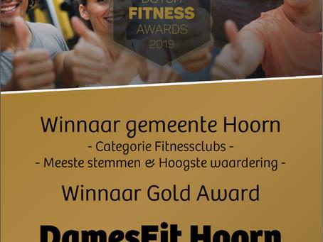 Winnaar Dutch Fitness Award 2019