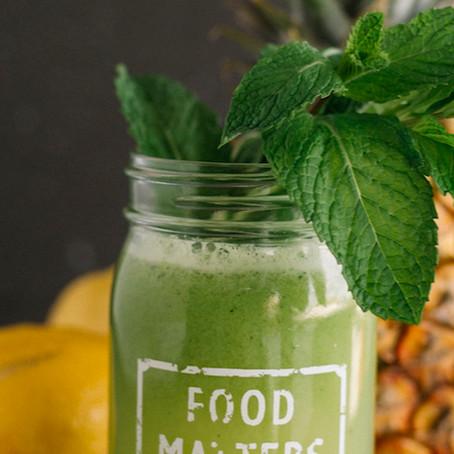 Aloe Vera and Pineapple Juice