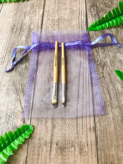 Dúo brochas de bambú