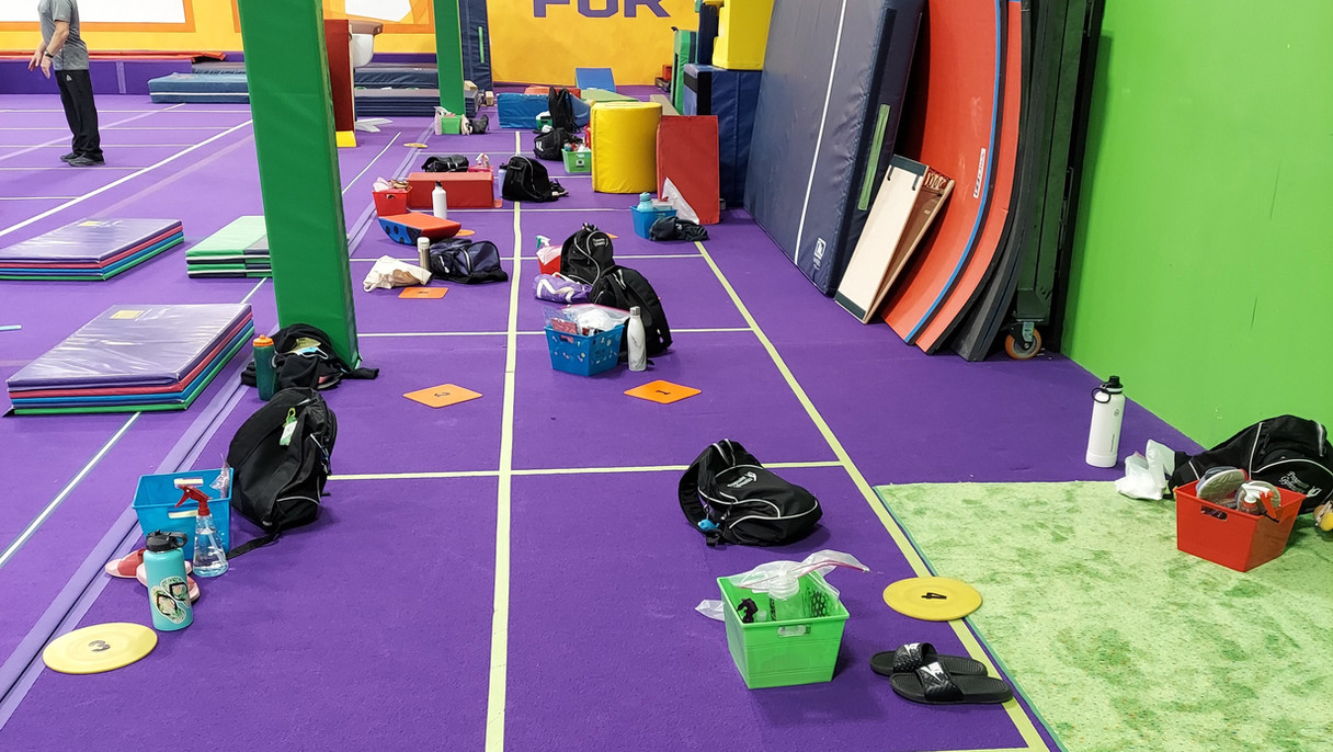 Gymnastics Holding Area