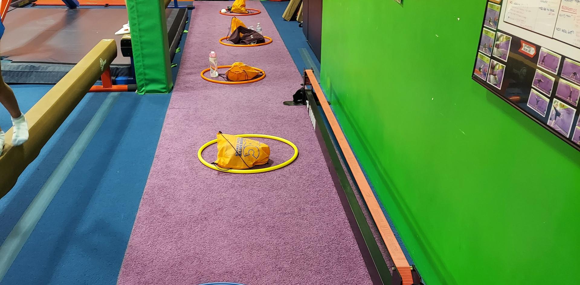 Gymnastics Social Distance Set-Up