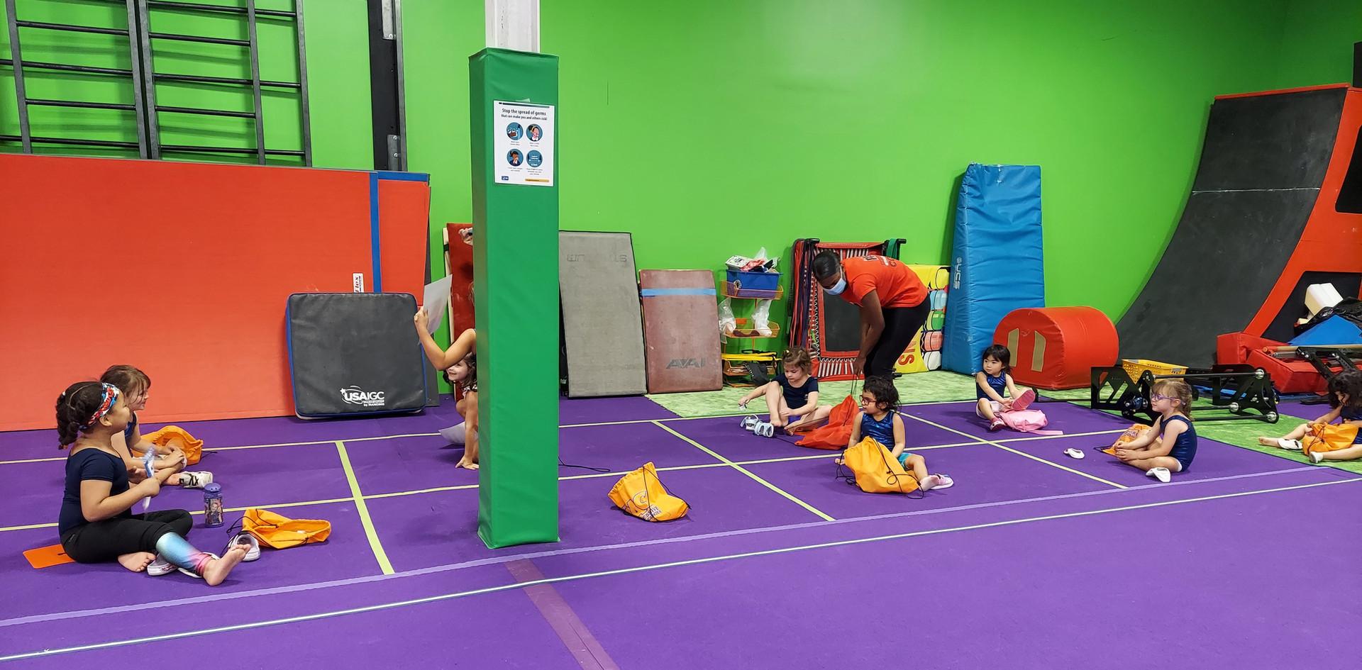 Gymnastics Dismissal Area