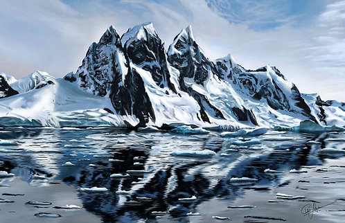 """""""Snowy Mountains"""" Poster"""
