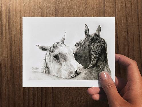 """Mutual Devotion I"" Art Card - Folded"