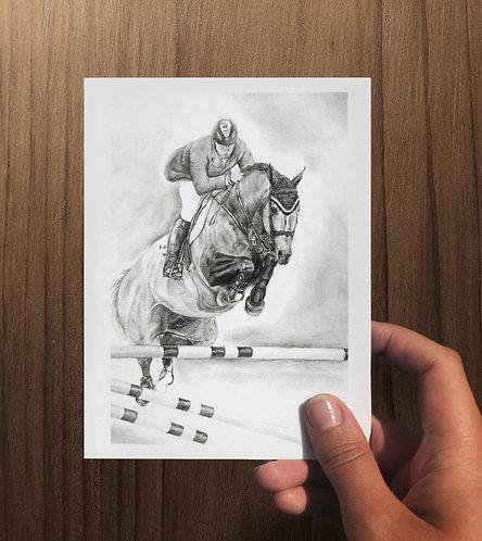 """""""Hickstead"""" Art Card - Folded"""