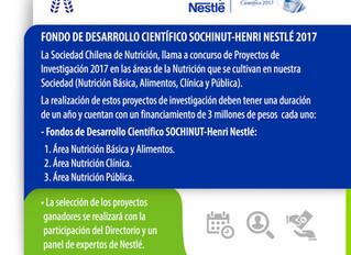 II CONCURSO DE INVESTIGACIÓN DE LA SOCIEDAD CHILENA DE NUTRICION (SOCHINUT)  Fondo de Desarrollo Cie