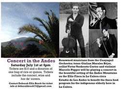 Concert in the Andes Flyer