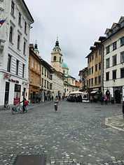 Street Picture of Old Town in Ljubljana