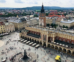 View from St. Mary Chruch in Old Town of Krakow