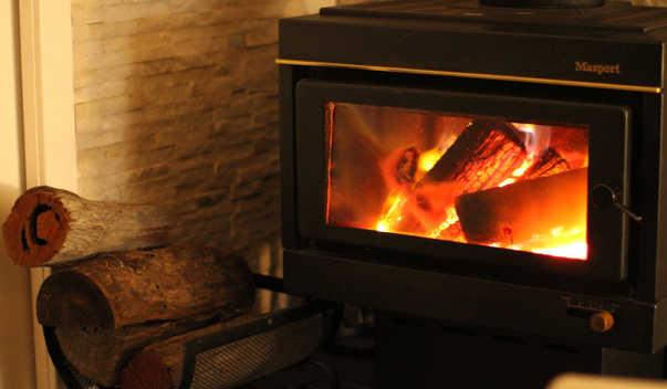 Indoor Wood Fireplace