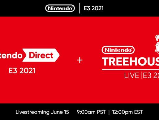Nintendo anuncia planos para a E3 2021 - Nintendo Direct e Nintendo Treehouse Live