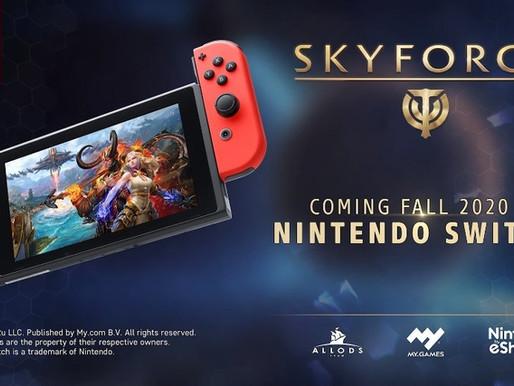 MMO Skyforge está chegando grátis para jogar no Switch