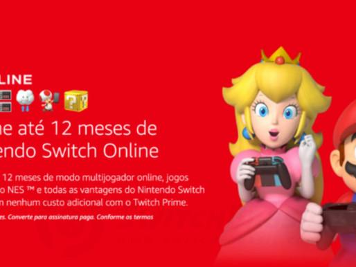 Amazon Prime chega ao Brasil e oferta de 1 ano gratuito do Nintendo Switch Online está disponível