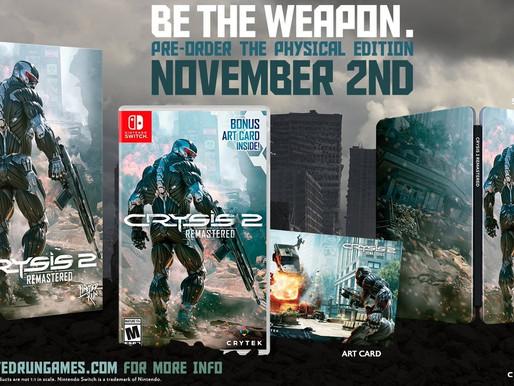 Lançamento físico de Crysis 2 Remastered é revelado para Nintendo Switch