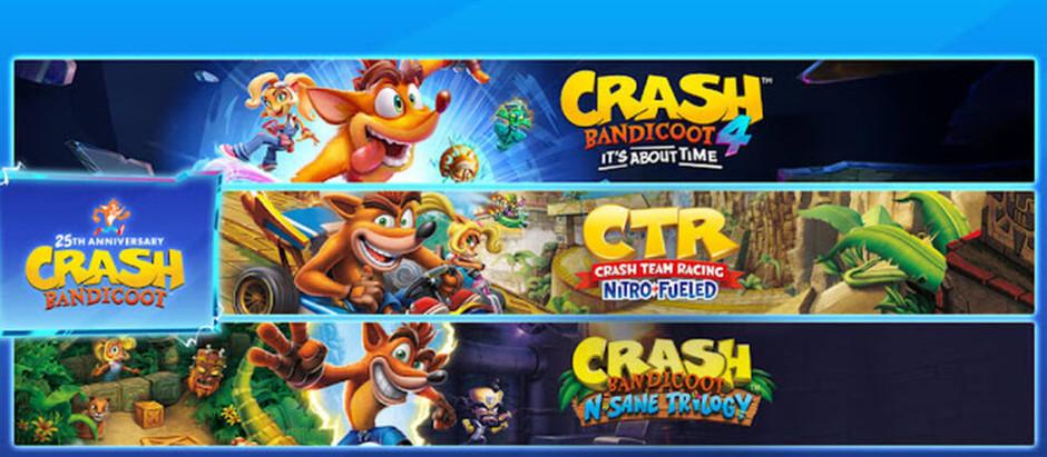 O aniversário é do Crash, o presente é para você!