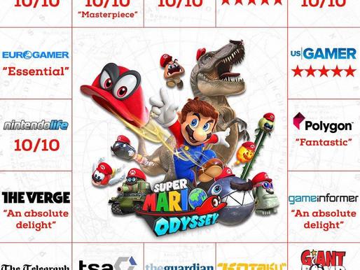 Super Mario Odyssey já se tornou um dos jogos mais bem avaliados da história
