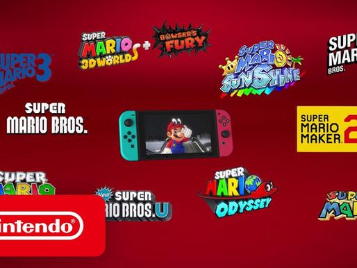 "Vídeo: Switch - ""Super Mario Bros. - Seus jogos favoritos"""