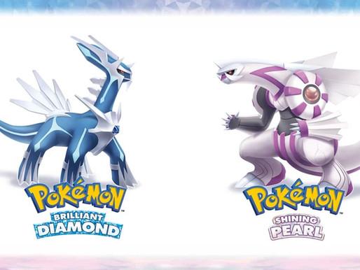 Pokemon Brilliant Diamond/Shining Pearl chegam em novembro