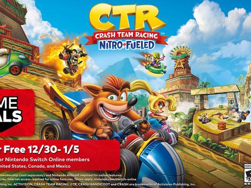 Crash Team Racing Nitro Fueled é o próximo game gratuito do Trial Online do Nintendo Switch