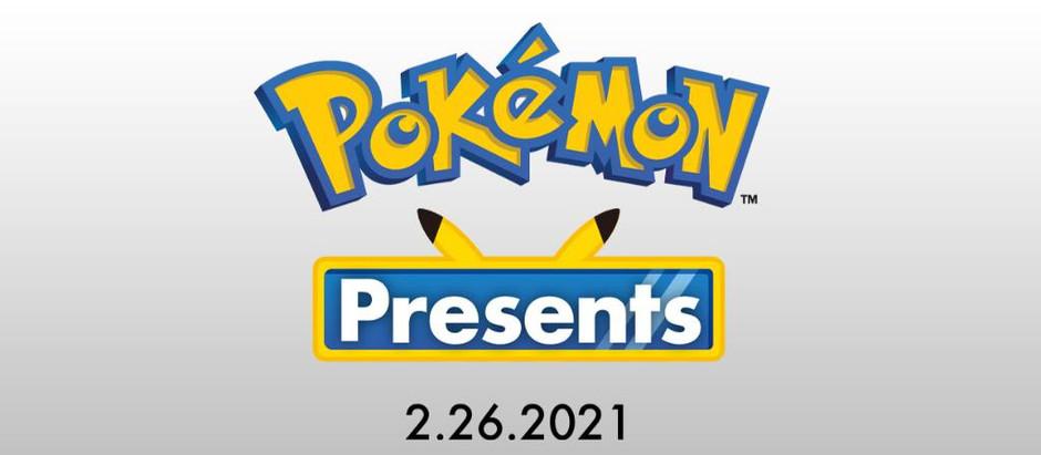 Evento Pokémon Presents de 20 minutos é anunciado para 26 de fevereiro