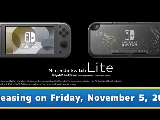 Switch Lite Dialga & Palkia Edition é anunciado