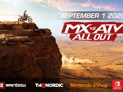 Jogo de corrida off-road MX vs ATV All Out é anunciado para Nintendo Switch