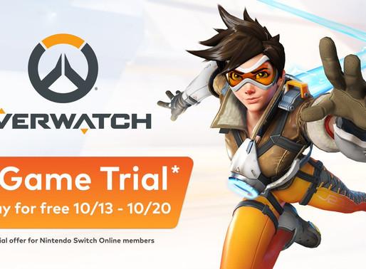 Overwatch ficará de graça por uma semana para os assinantes do Nintendo Switch Online
