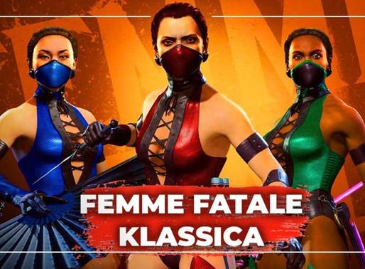 Pacote de skins Femme Fatale Klássica está disponível para Mortal Kombat 11: Aftermath