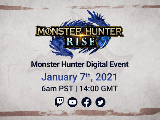 Transmissão ao vivo de informações sobre Monster Hunter Rise chega dia 7 de janeiro