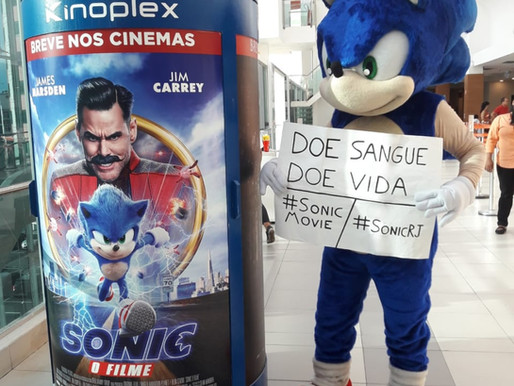 Cosplayer de Sonic tem projeto aprovado pela Kinoplex e Paramount Brasil para arrecadar doadores de