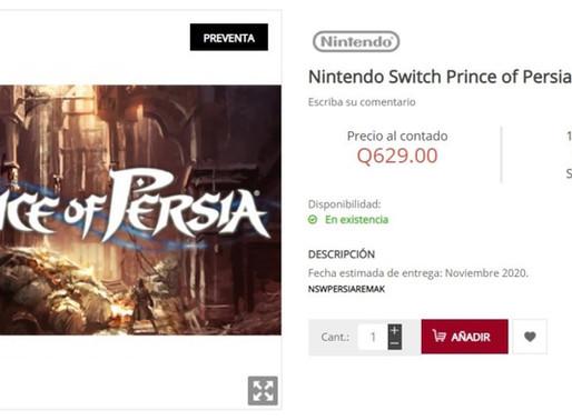 Prince of Persia Remake é listado para Nintendo Switch