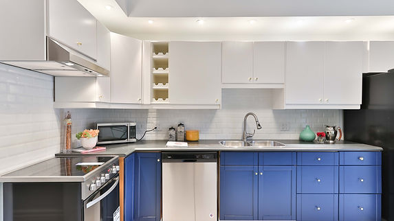 new electrical installation of a kitchen
