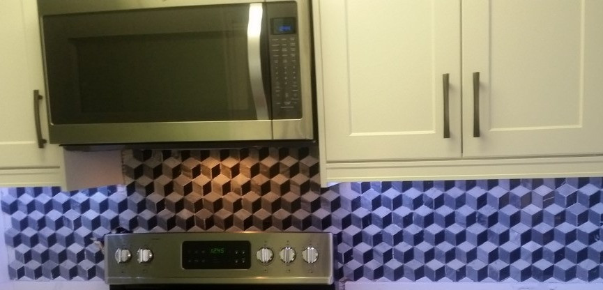 under cabinet lighting with new tile