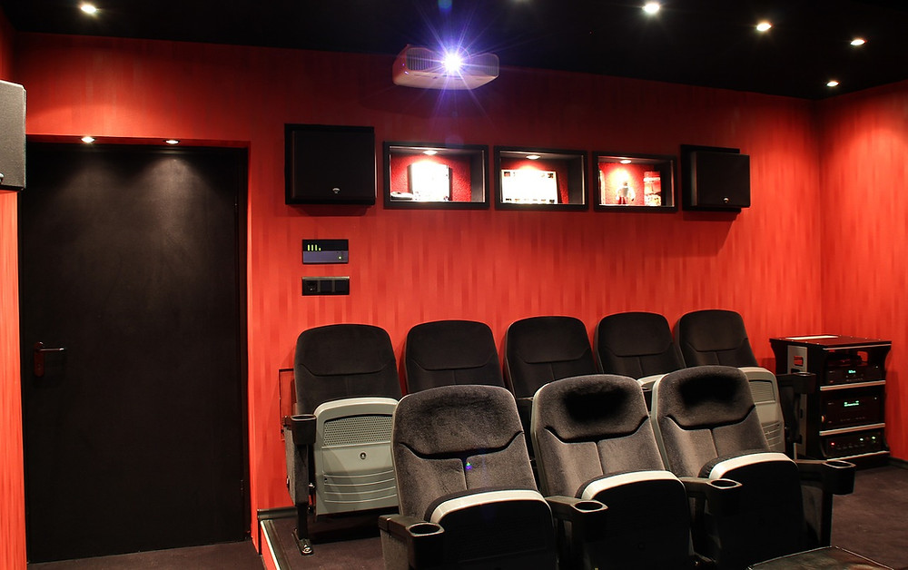 Home Cinema with recessed detail lighting