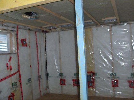 home theatre electrical wiring rough in completed