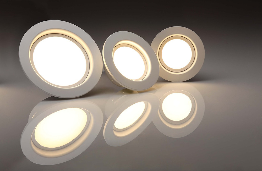 3 led wafer thin pot lights