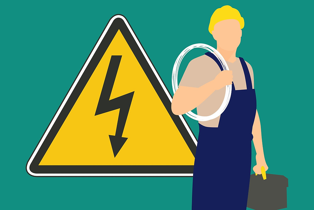 dangers of electrical work poster