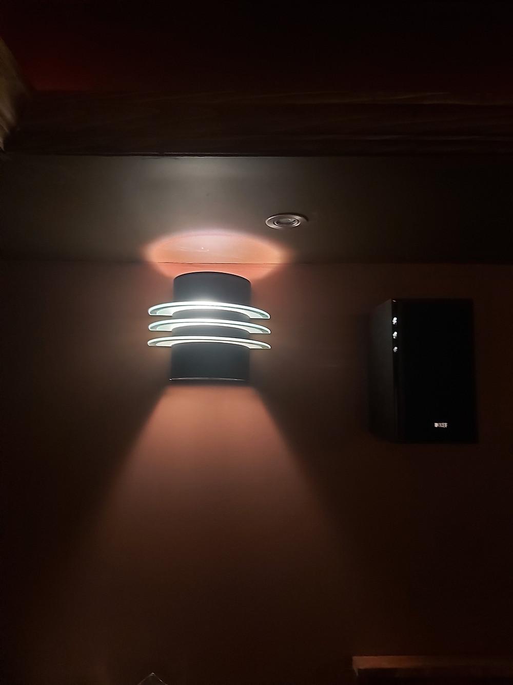 home cinema wall sconce illumination