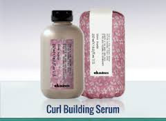 """Styling naturally curly ,wavy hair with Davines Curl Building Serum""""."""