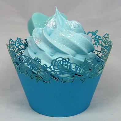 cupcake chéri bleu habillé