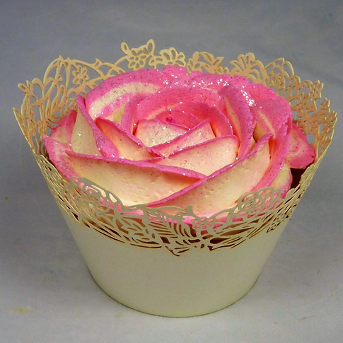 Cupcake rose habillé