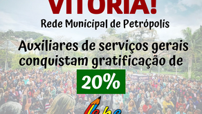 Vitória! Auxiliares de serviços gerais conquistam gratificação de 20%