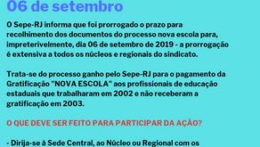 Prorrogação do prazo Nova Escola 2003
