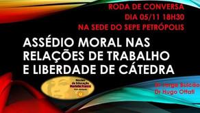 Roda de conversa sobre Assédio Moral e Liberdade de Cátedra