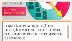 FORMULÁRIO 1/3 DE PLANEJAMENTO - E PASSO A PASSO PARA PREECHIMENTO