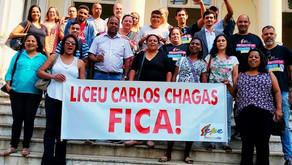 Vitória! SEPE e comunidade escolar impedem fechamento do Liceu Municipal Carlos Chagas
