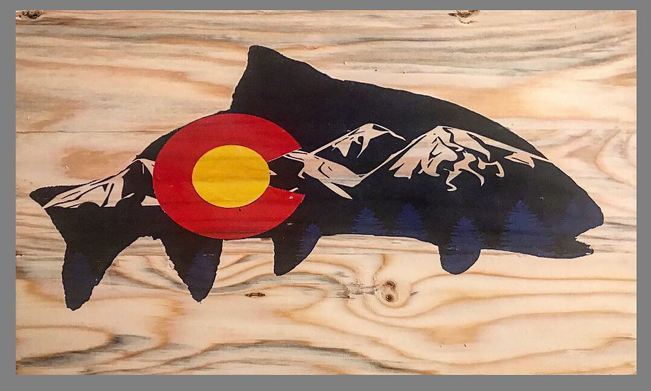Brand New Colorado Trout Flag with Mountains Design!