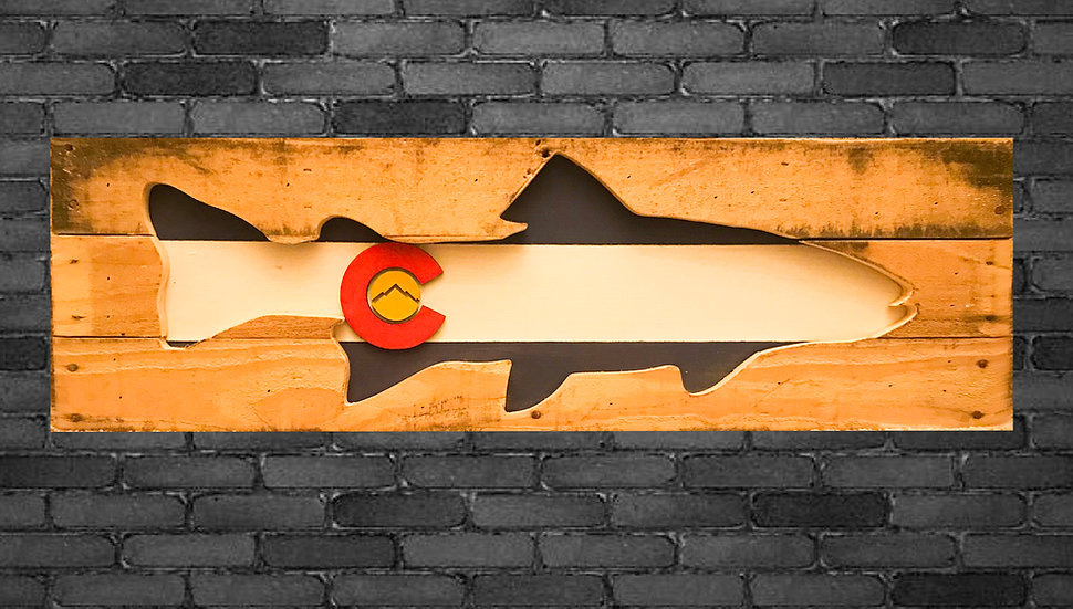 Colorado Flag Design Art Wall Decor