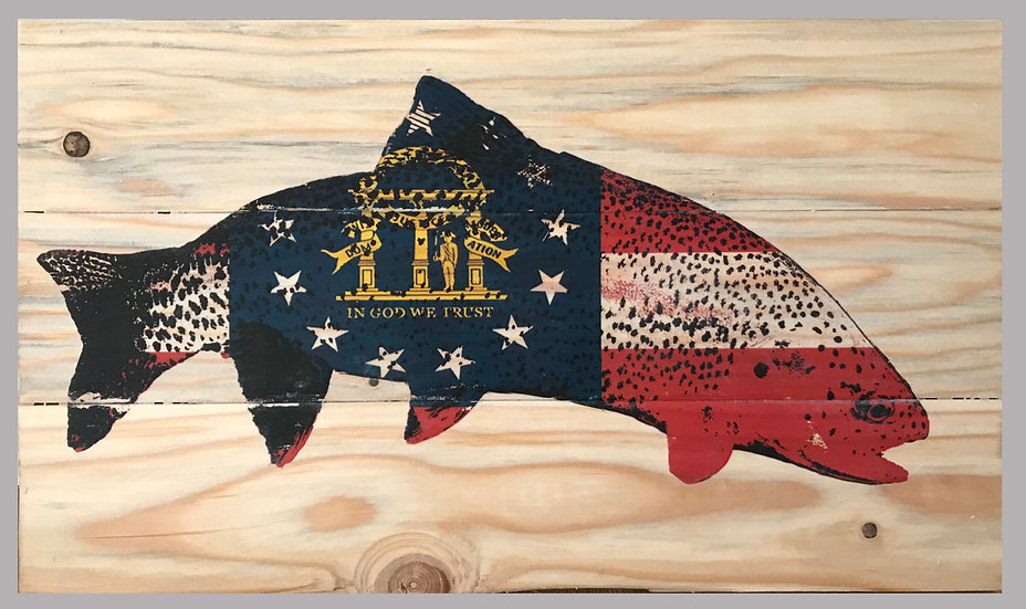 Georgia State Trout Flag
