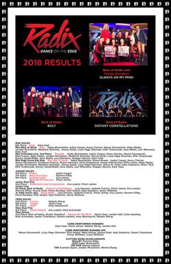Radix Results 2018